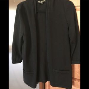 St. John Black Knit cardigan Size S good condition